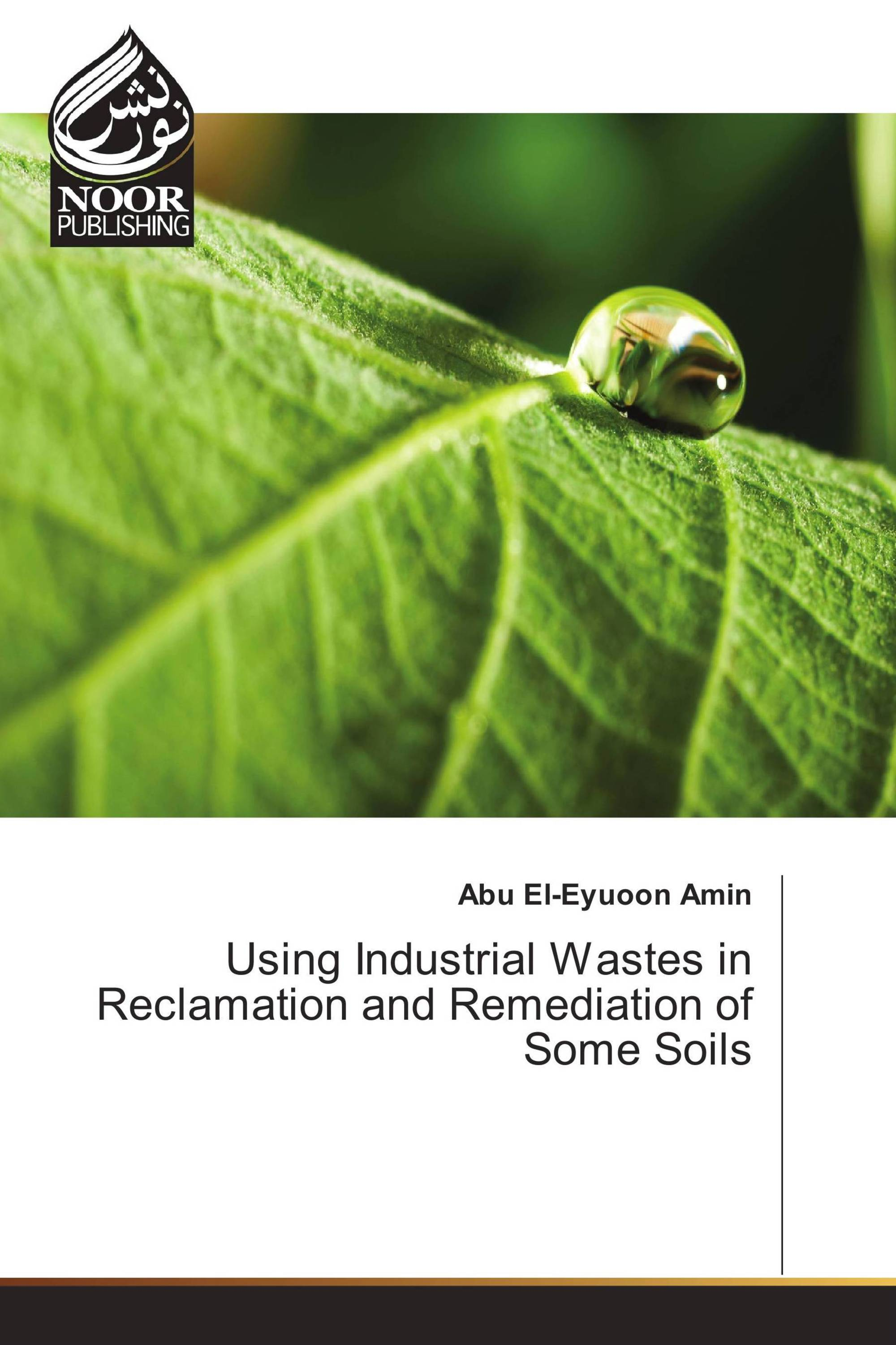 Using Industrial Wastes in Reclamation and Remediation of Some Soils