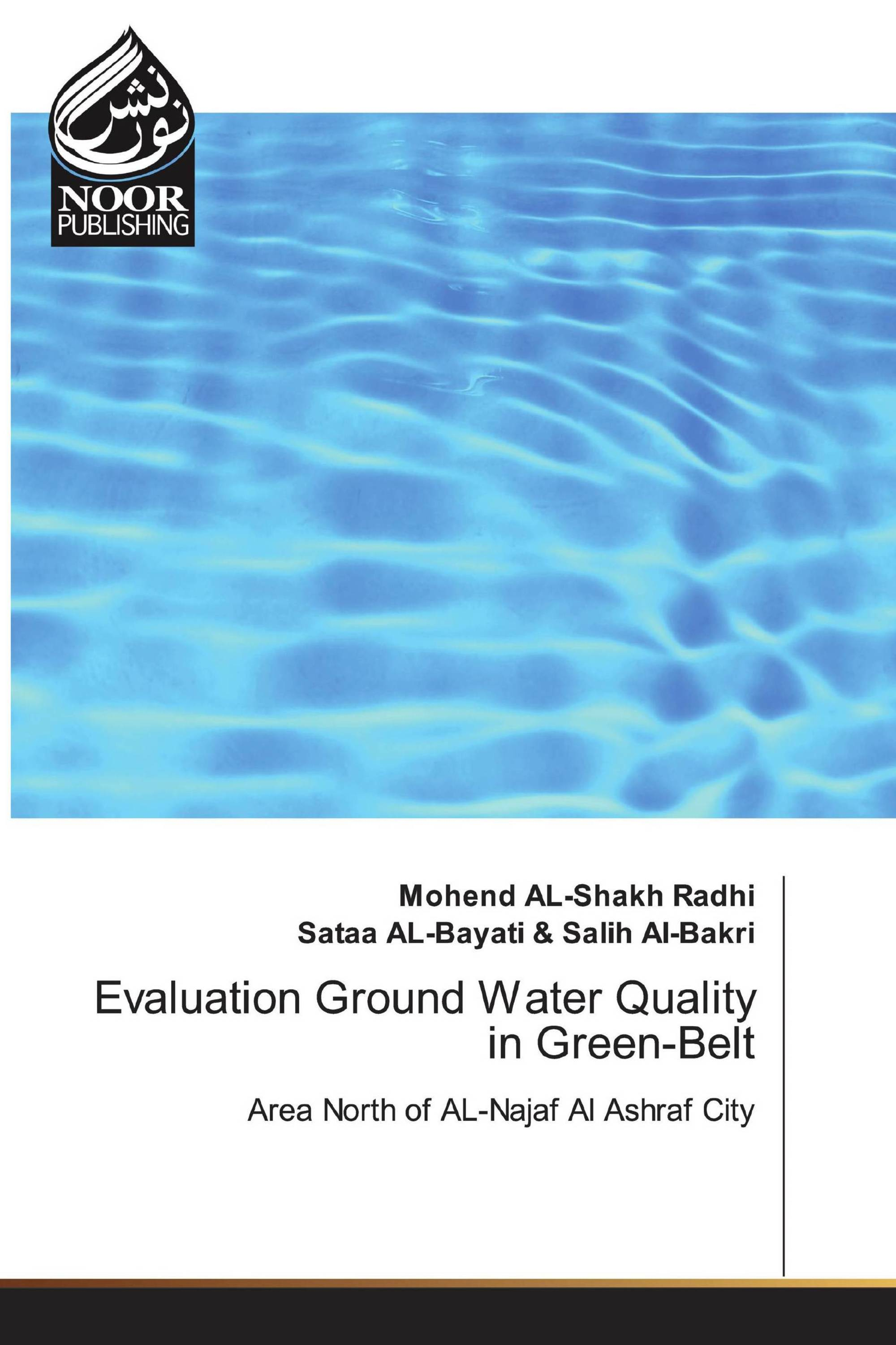 Evaluation Ground Water Quality in Green-Belt