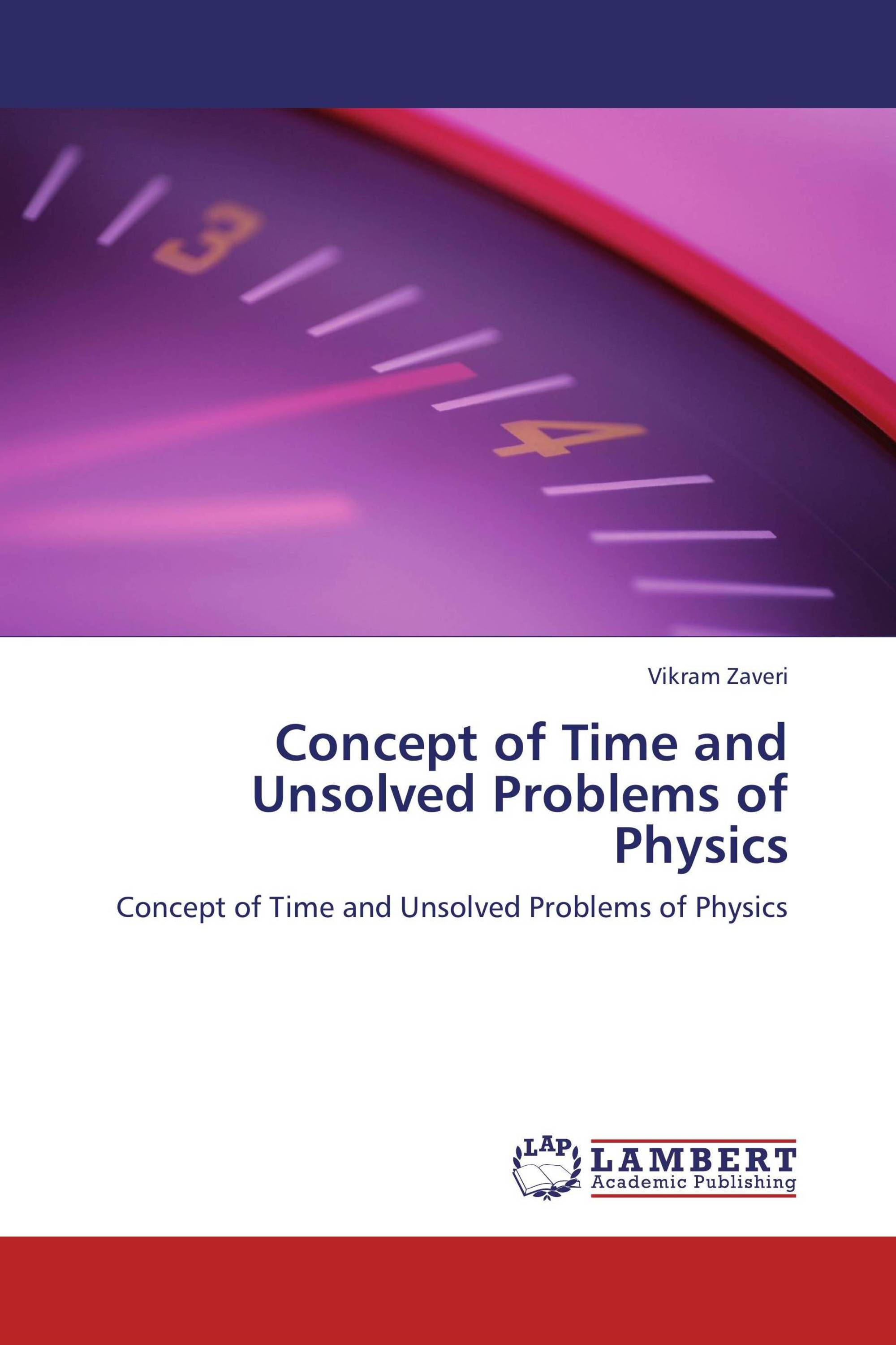 Concept of Time and Unsolved Problems of Physics