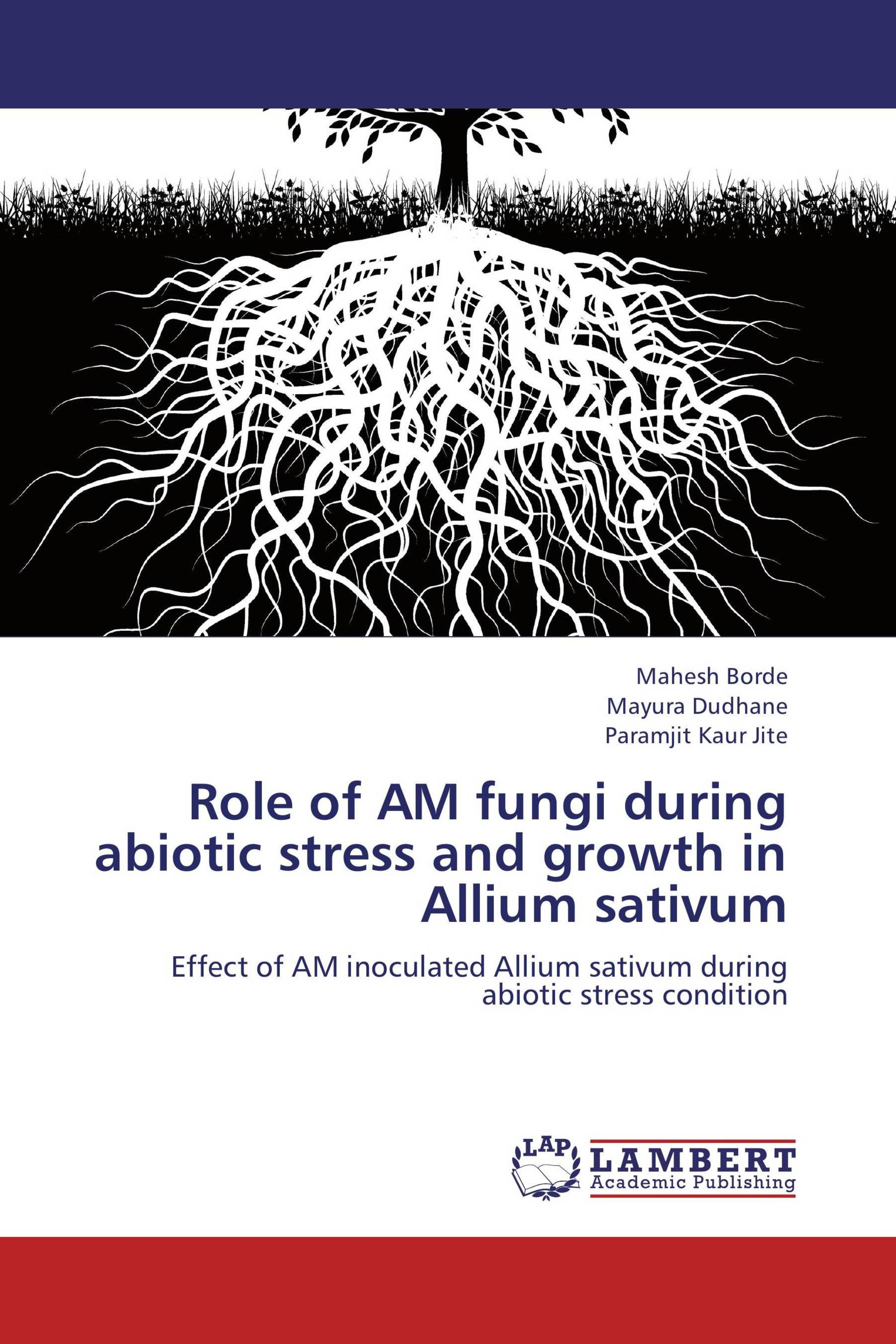 Role of AM fungi during abiotic stress and growth in Allium sativum