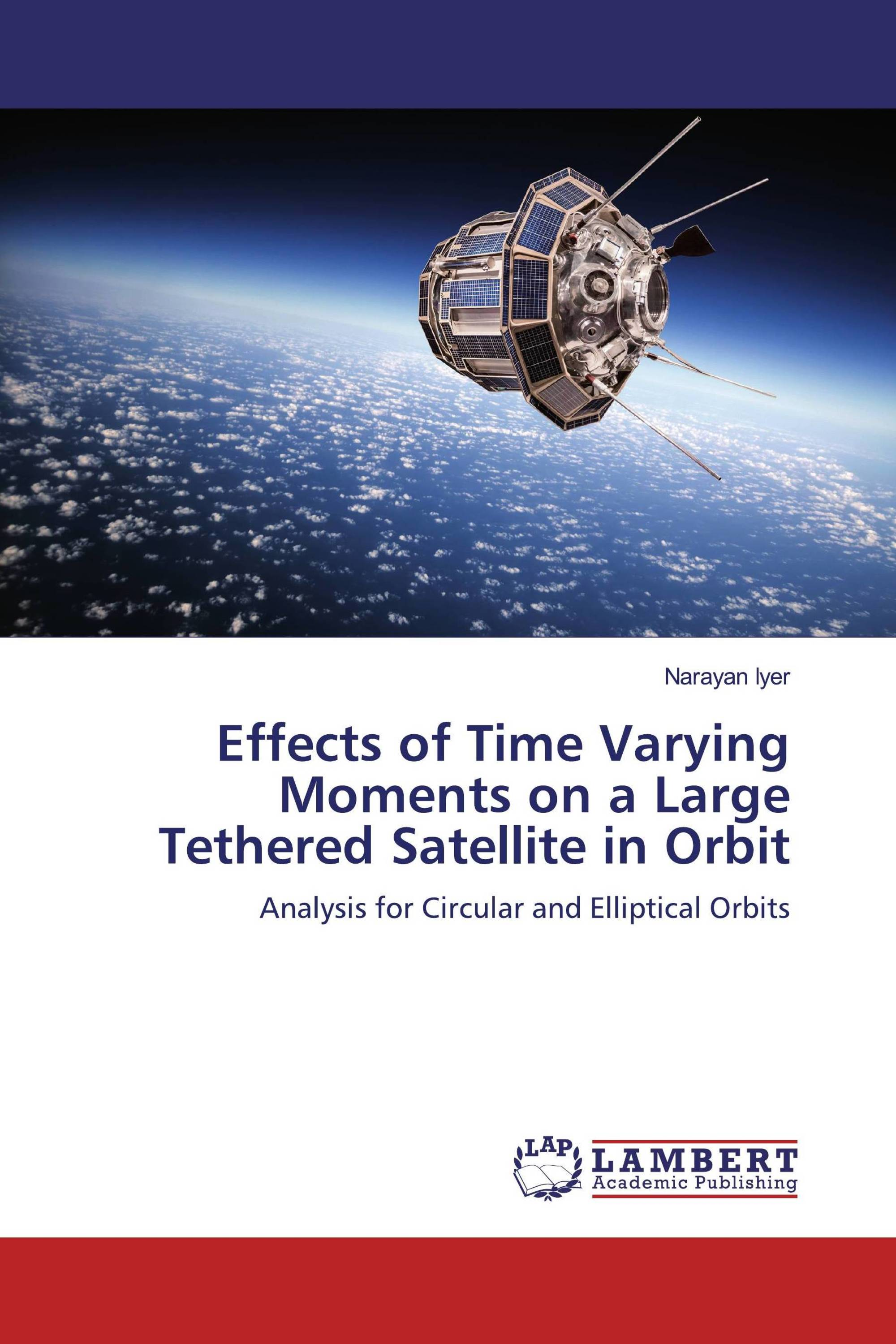 Effects of Time Varying Moments on a Large Tethered Satellite in Orbit