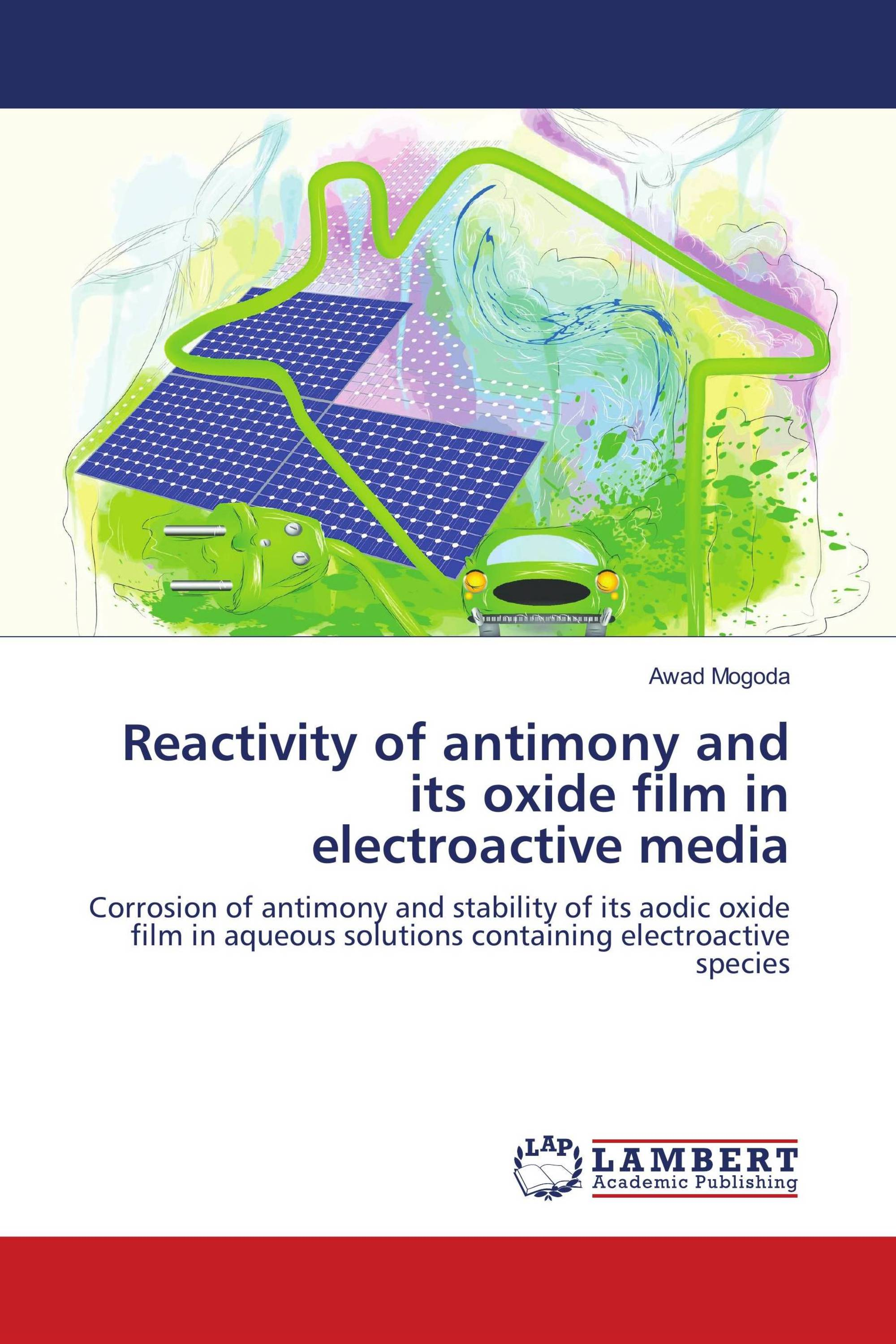 Reactivity of antimony and its oxide film in electroactive