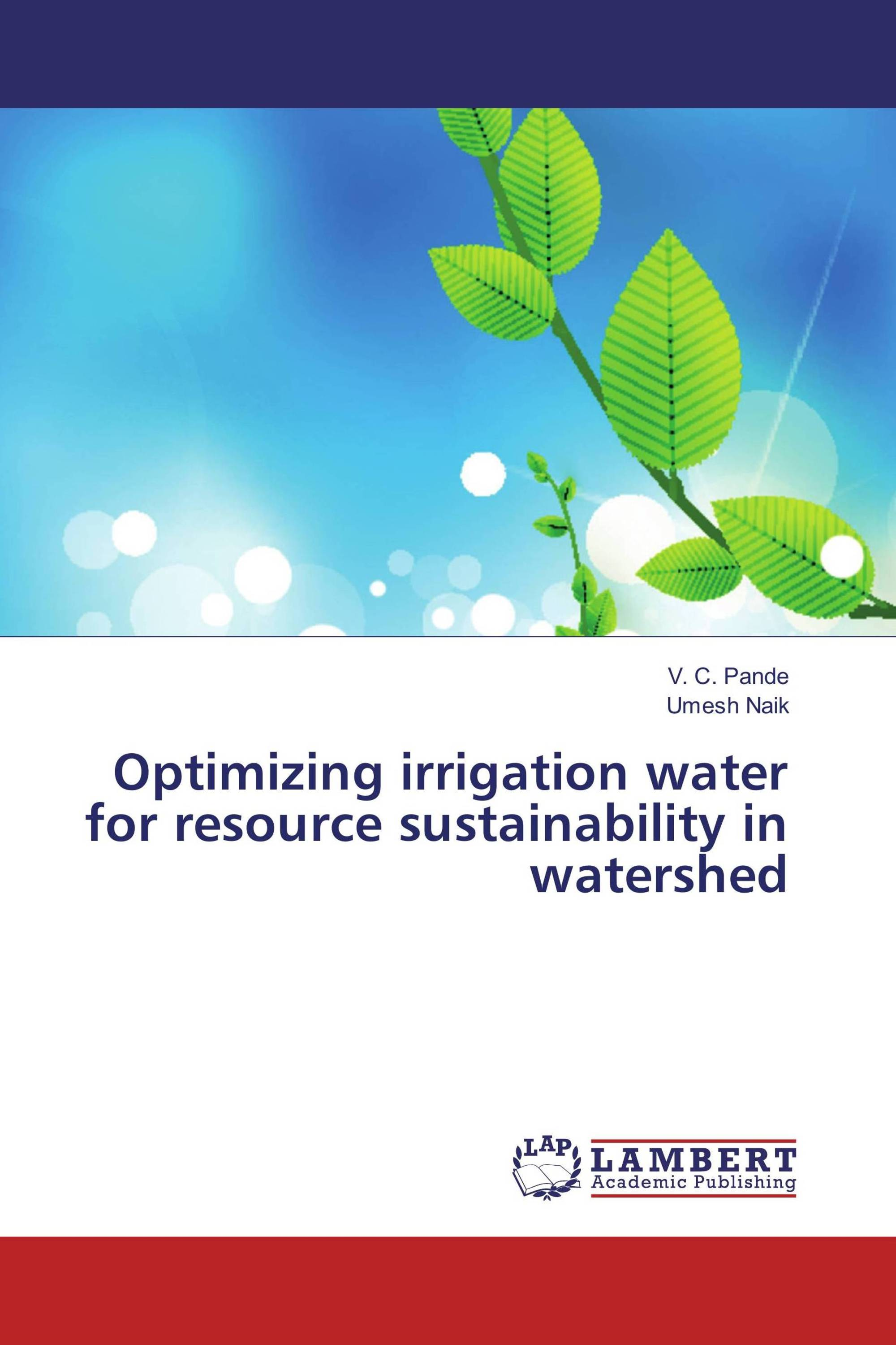 Optimizing irrigation water for resource sustainability in watershed