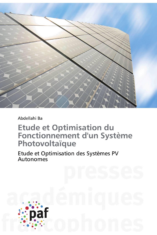 Etude et Optimisation du Fonctionnement d'un Système Photovoltaïque