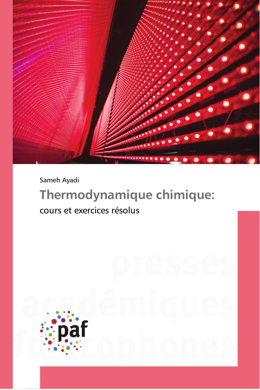 Thermodynamique chimique: