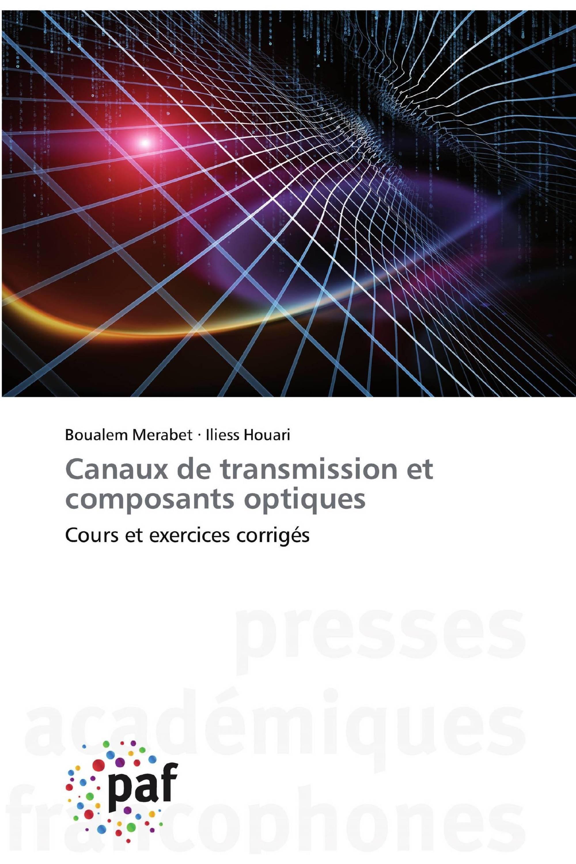 Canaux de transmission et composants optiques