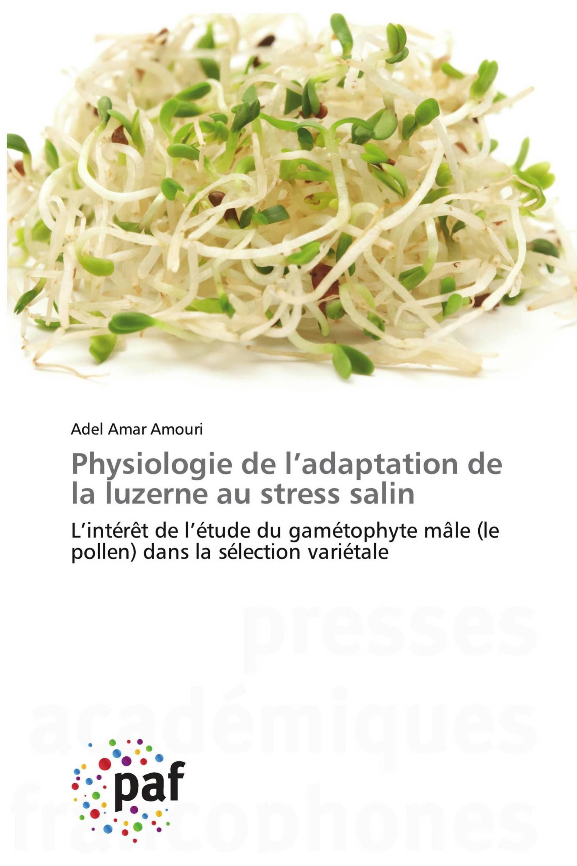 Physiologie de l'adaptation de la luzerne au stress salin