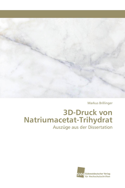 3D-Druck von Natriumacetat-Trihydrat