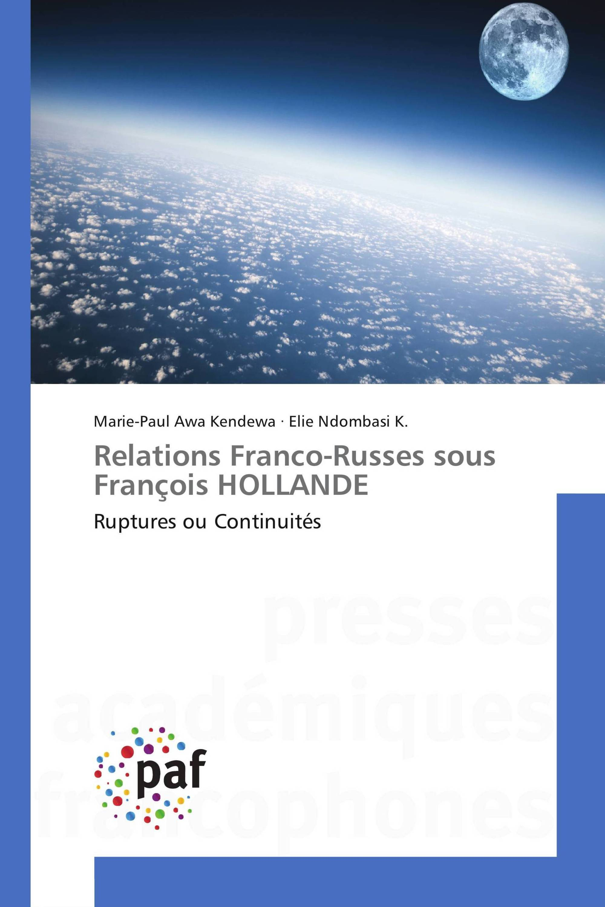 Relations Franco-Russes sous François HOLLANDE