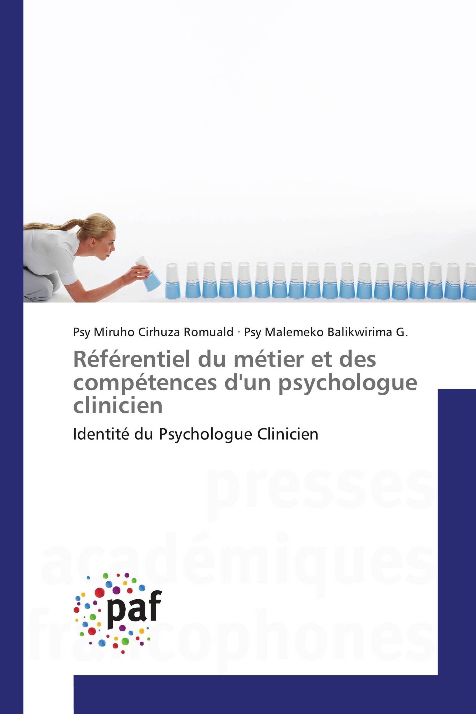 Référentiel du métier et des compétences d'un psychologue clinicien