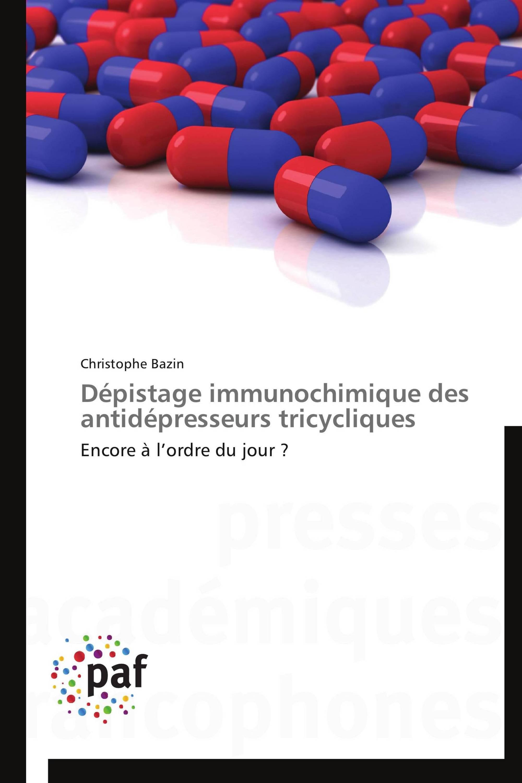 Dépistage immunochimique des antidépresseurs tricycliques