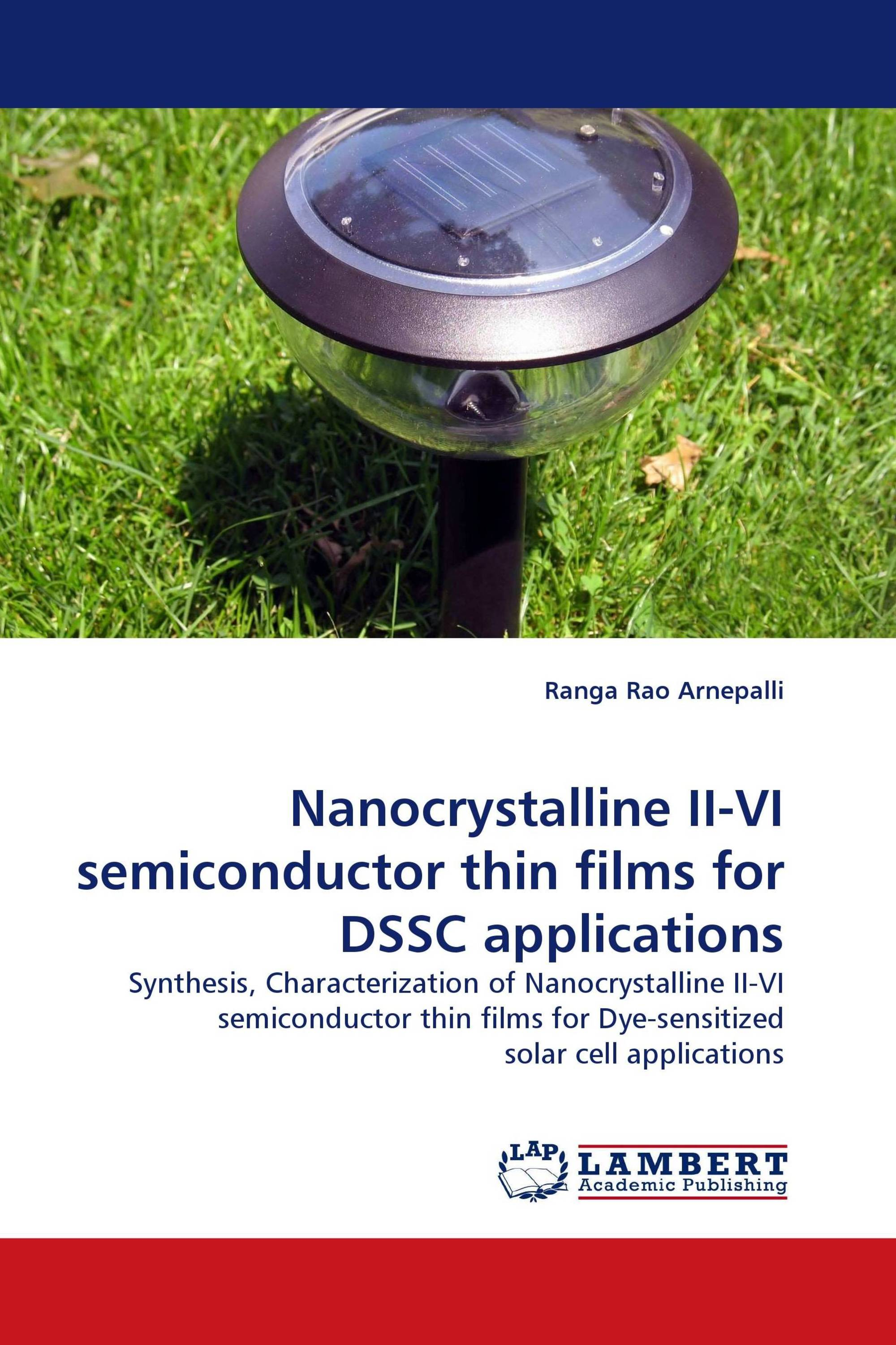 Nanocrystalline II-VI semiconductor thin films for DSSC applications