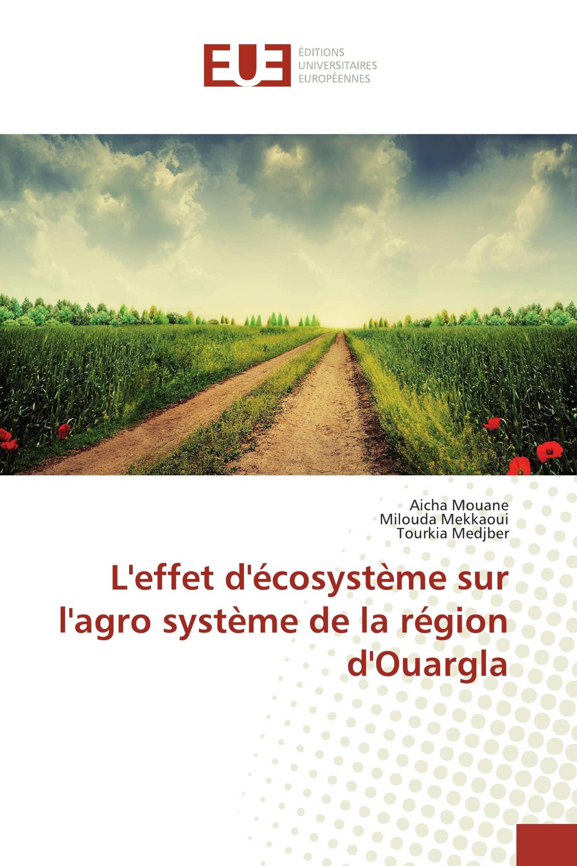 L'effet d'écosystème sur l'agro système de la région d'Ouargla