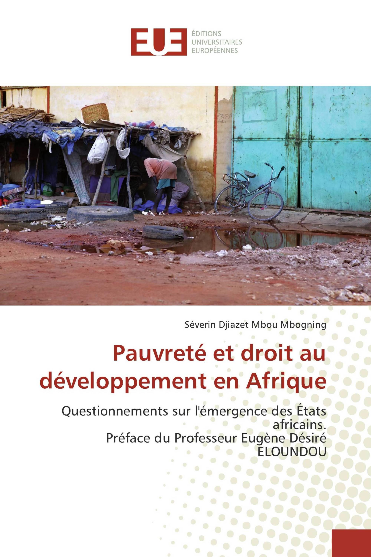 Pauvreté et droit au développement en Afrique