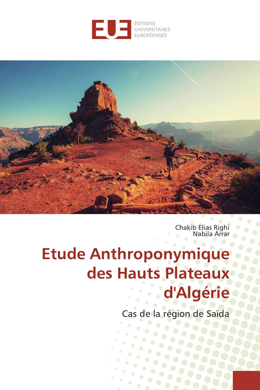 Etude Anthroponymique des Hauts Plateaux d'Algérie
