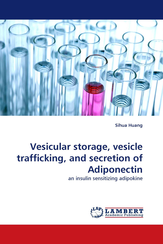 Vesicular storage, vesicle trafficking, and secretion of Adiponectin