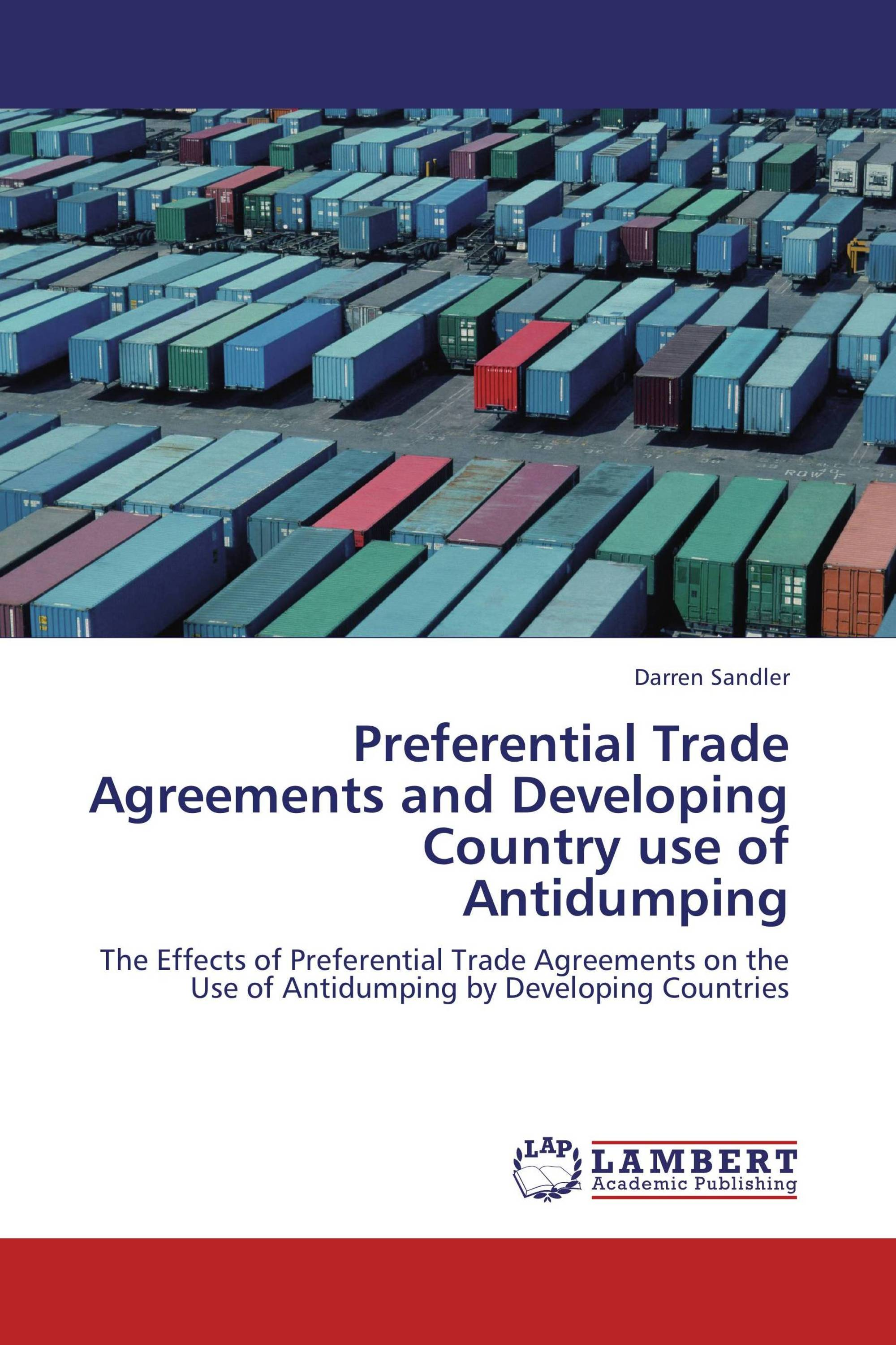 Preferential Trade Agreements And Developing Country Use Of