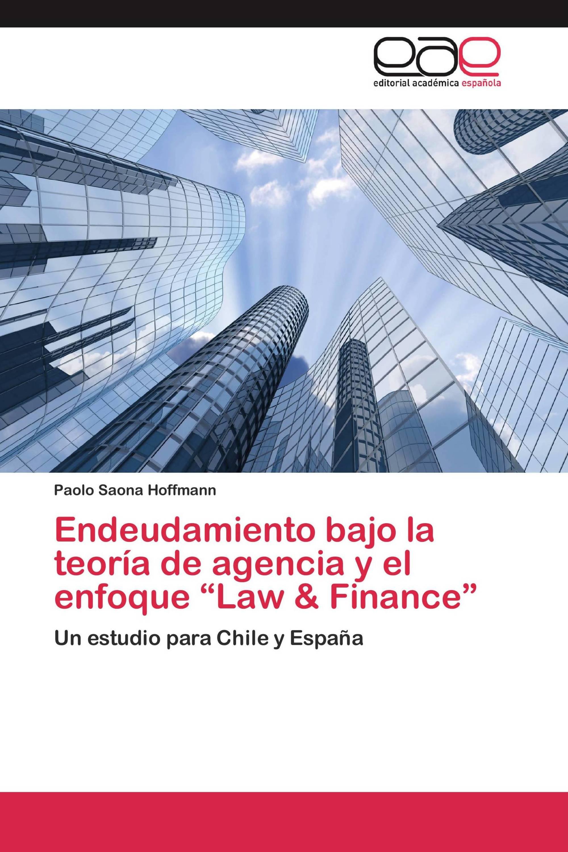 """Endeudamiento bajo la teoría de agencia y el enfoque """"Law & Finance"""""""