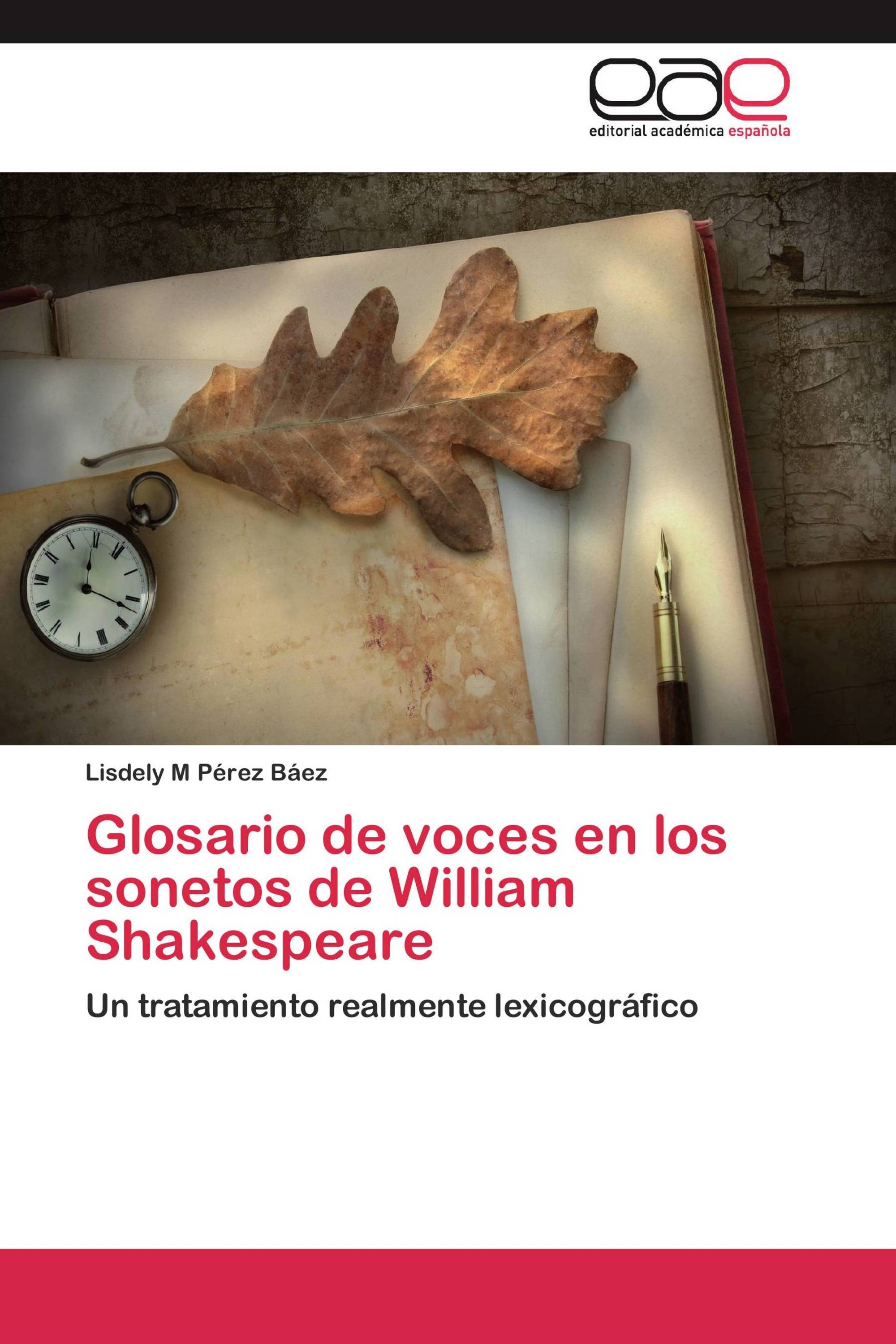 Glosario de voces en los sonetos de William Shakespeare