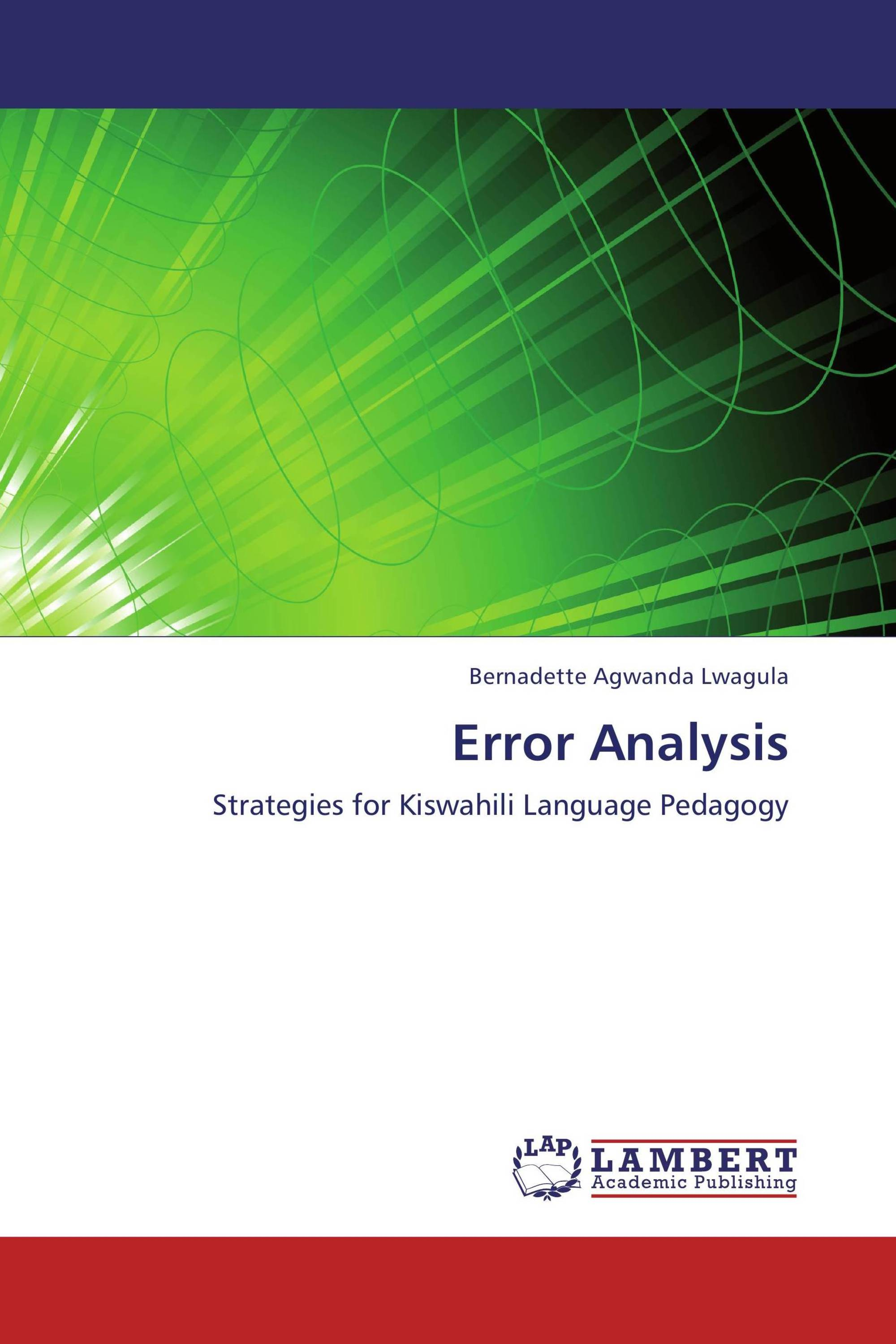 error analysis Use error analysis to identify patterns of errors, focus on tests that have errors, and view information that can help you troubleshoot and resolve performance or availability problems.