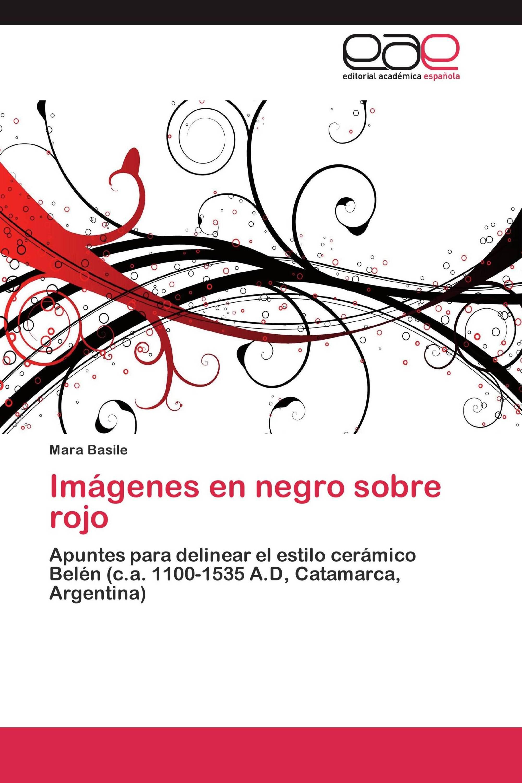 Imágenes en negro sobre rojo