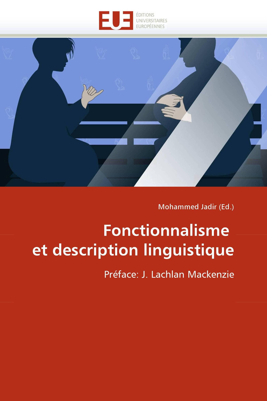 Fonctionnalisme  et description linguistique