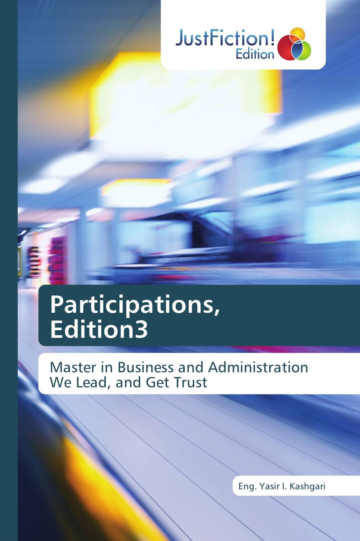 Participations, Edition3