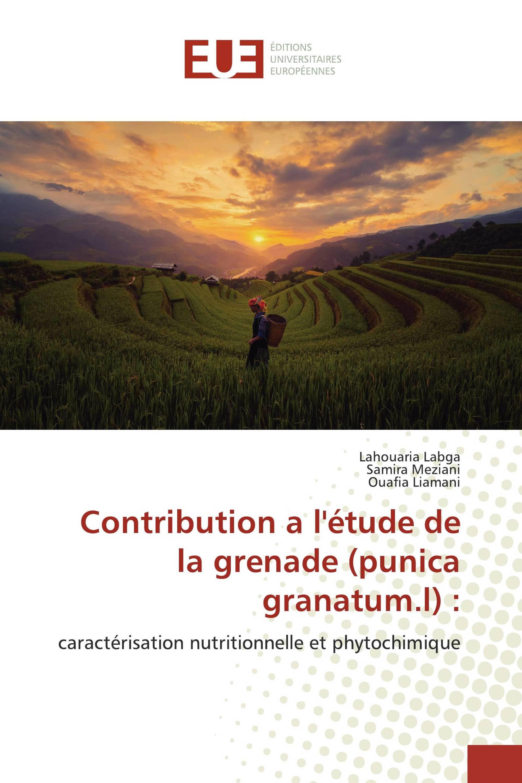 Contribution a l'étude de la grenade (punica granatum.l) :