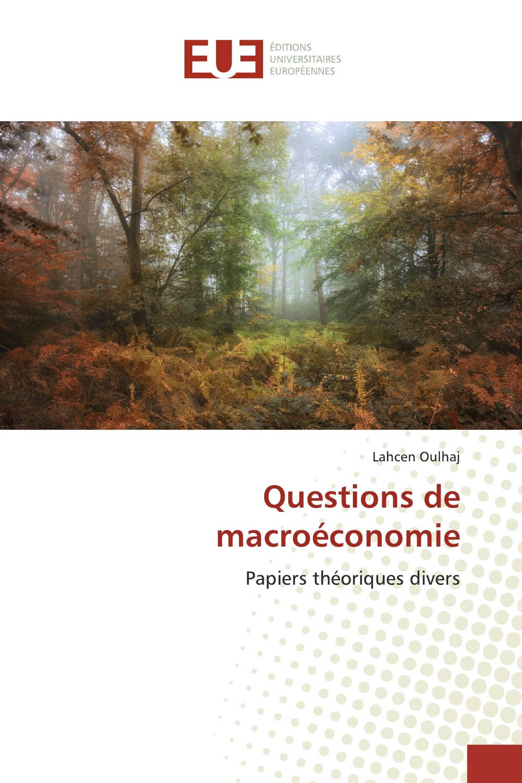 Questions de macroéconomie