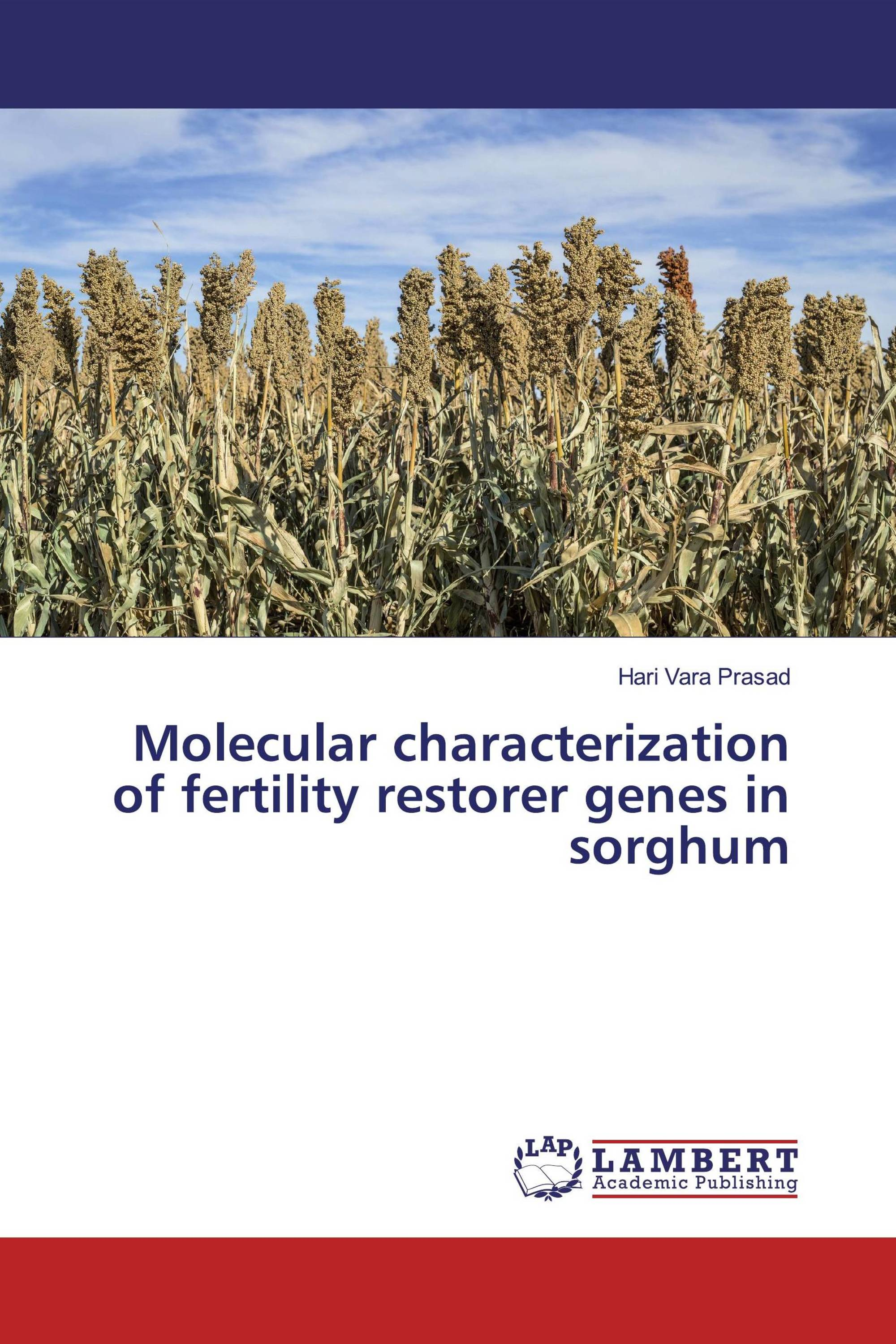 Molecular characterization of fertility restorer genes in sorghum