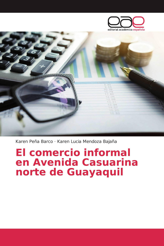 El comercio informal en Avenida Casuarina norte de Guayaquil