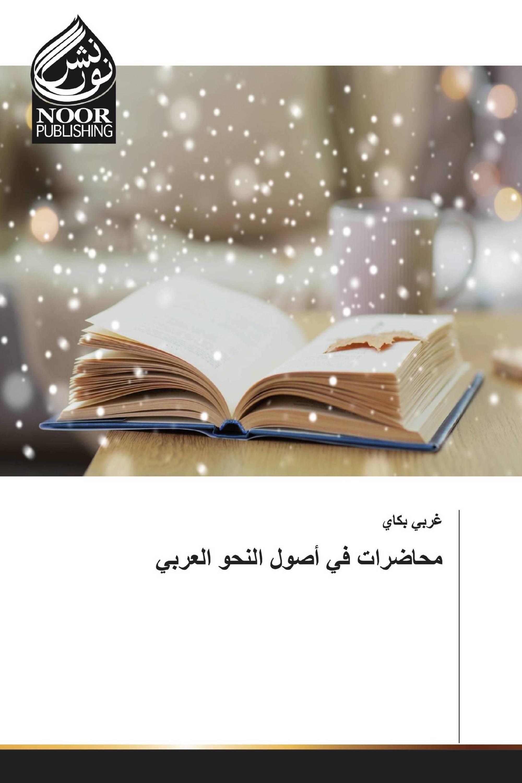 محاضرات في أصول النحو العربي