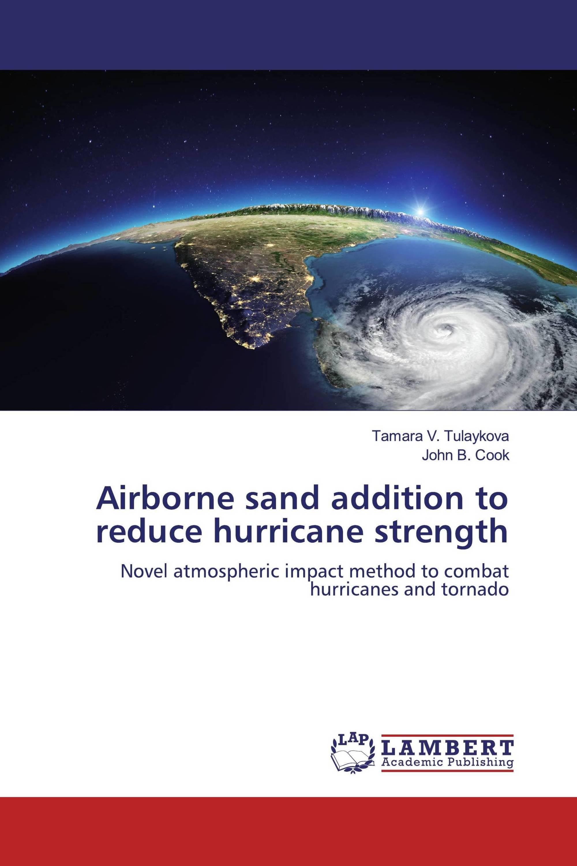 Airborne sand addition to reduce hurricane strength