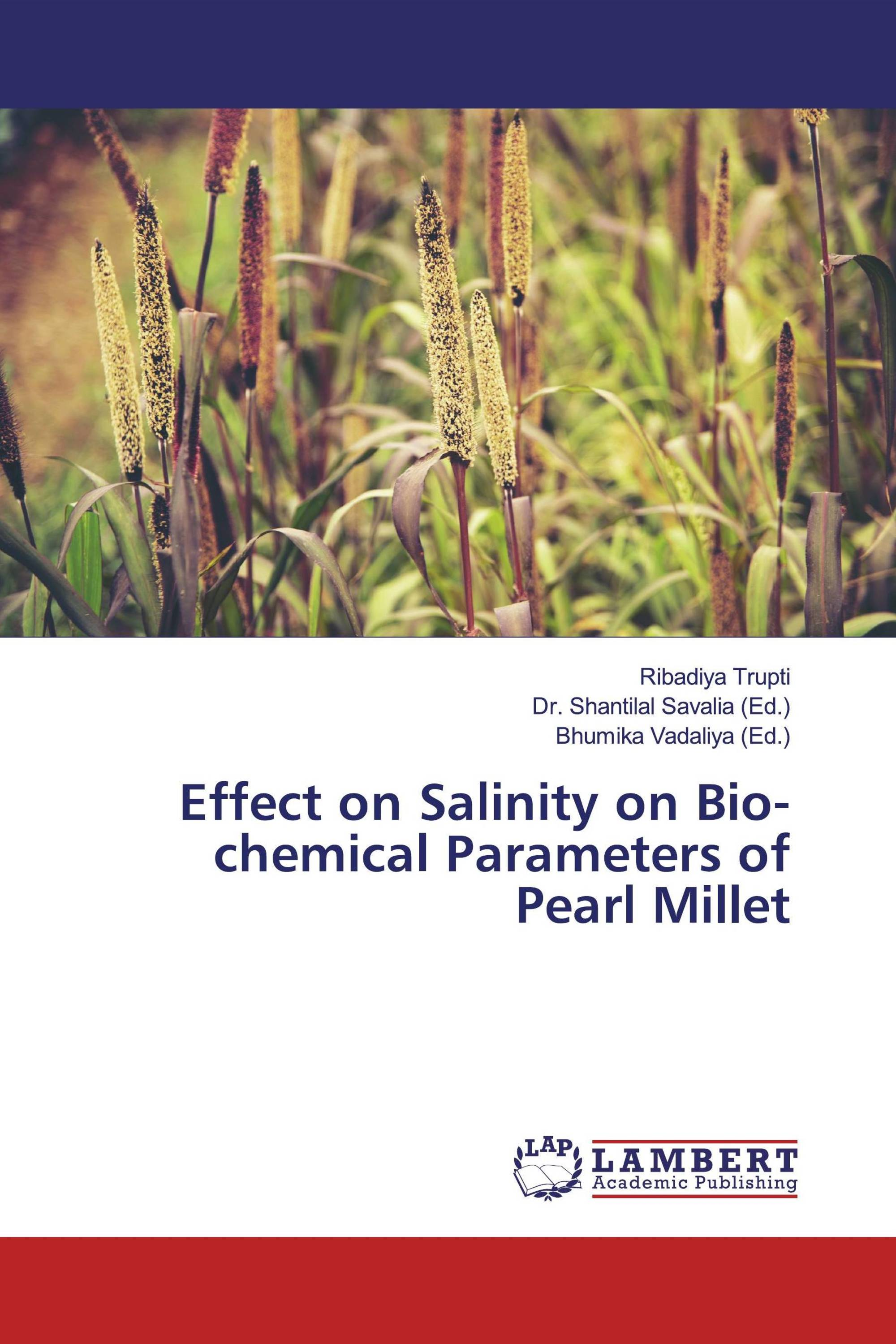 Effect on Salinity on Bio-chemical Parameters of Pearl Millet