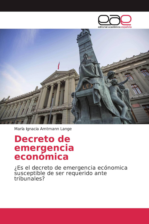 Decreto de emergencia económica