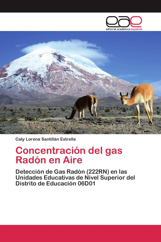 Concentración del gas Radón en Aire