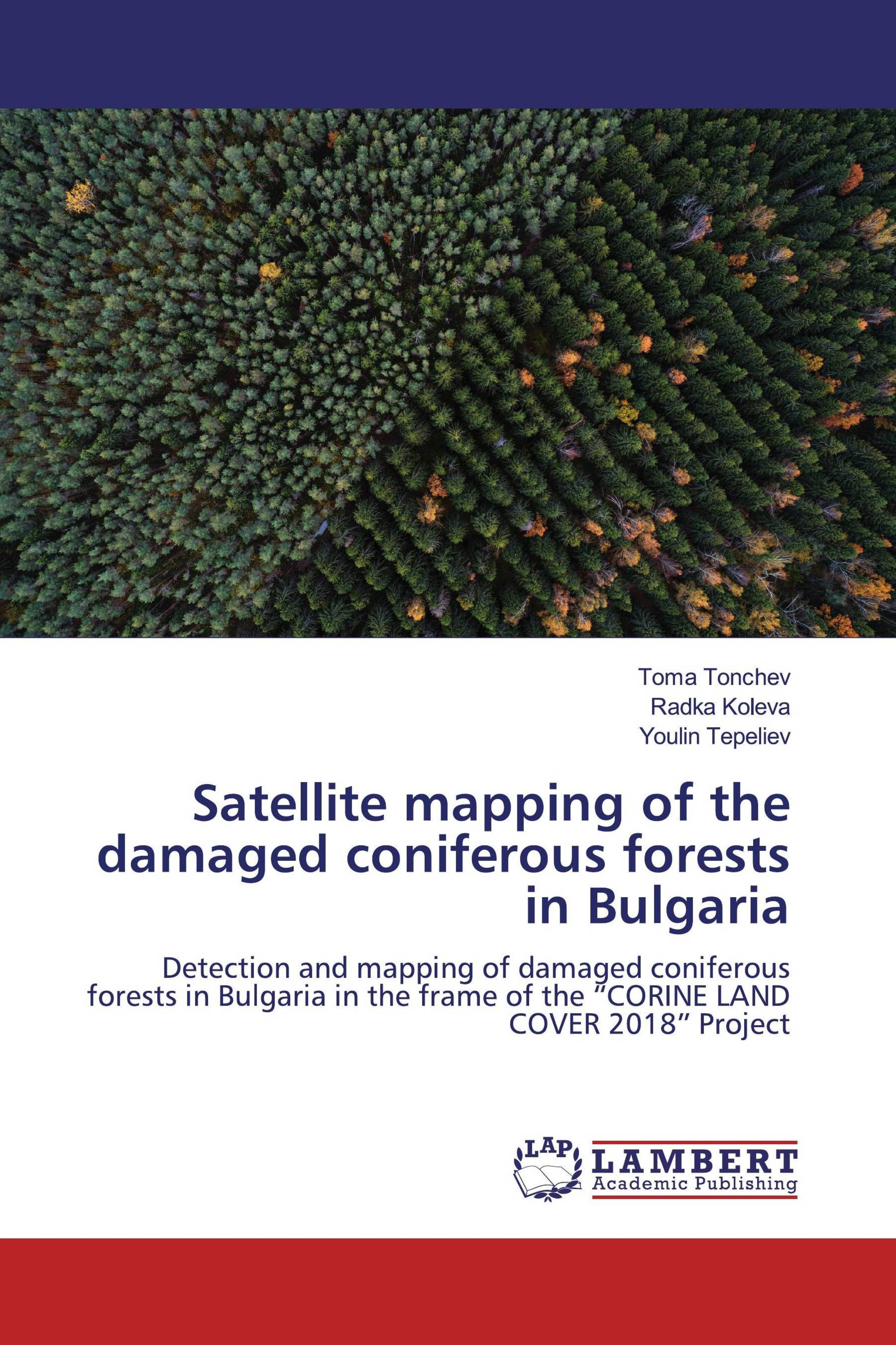Satellite mapping of the damaged coniferous forests in Bulgaria