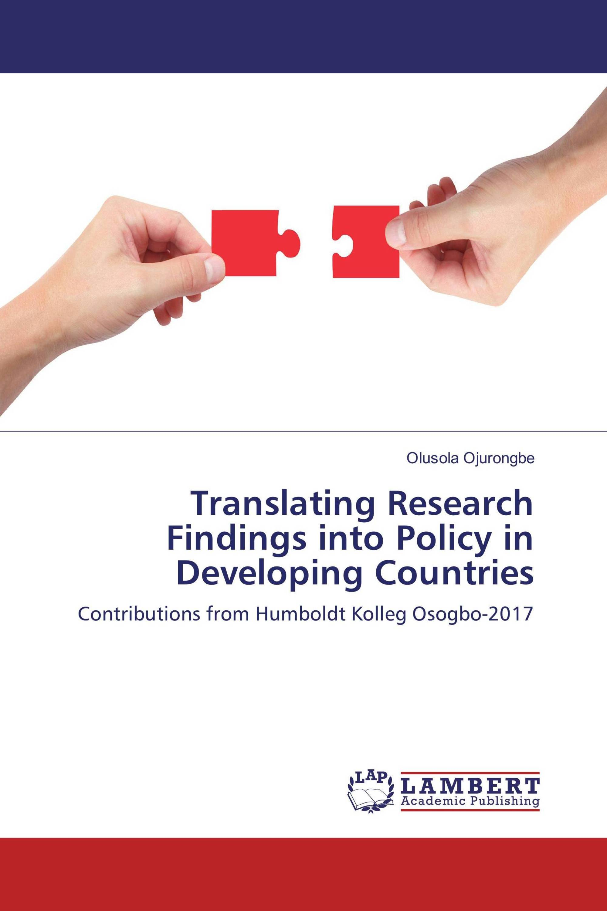 Translating Research Findings into Policy in Developing Countries