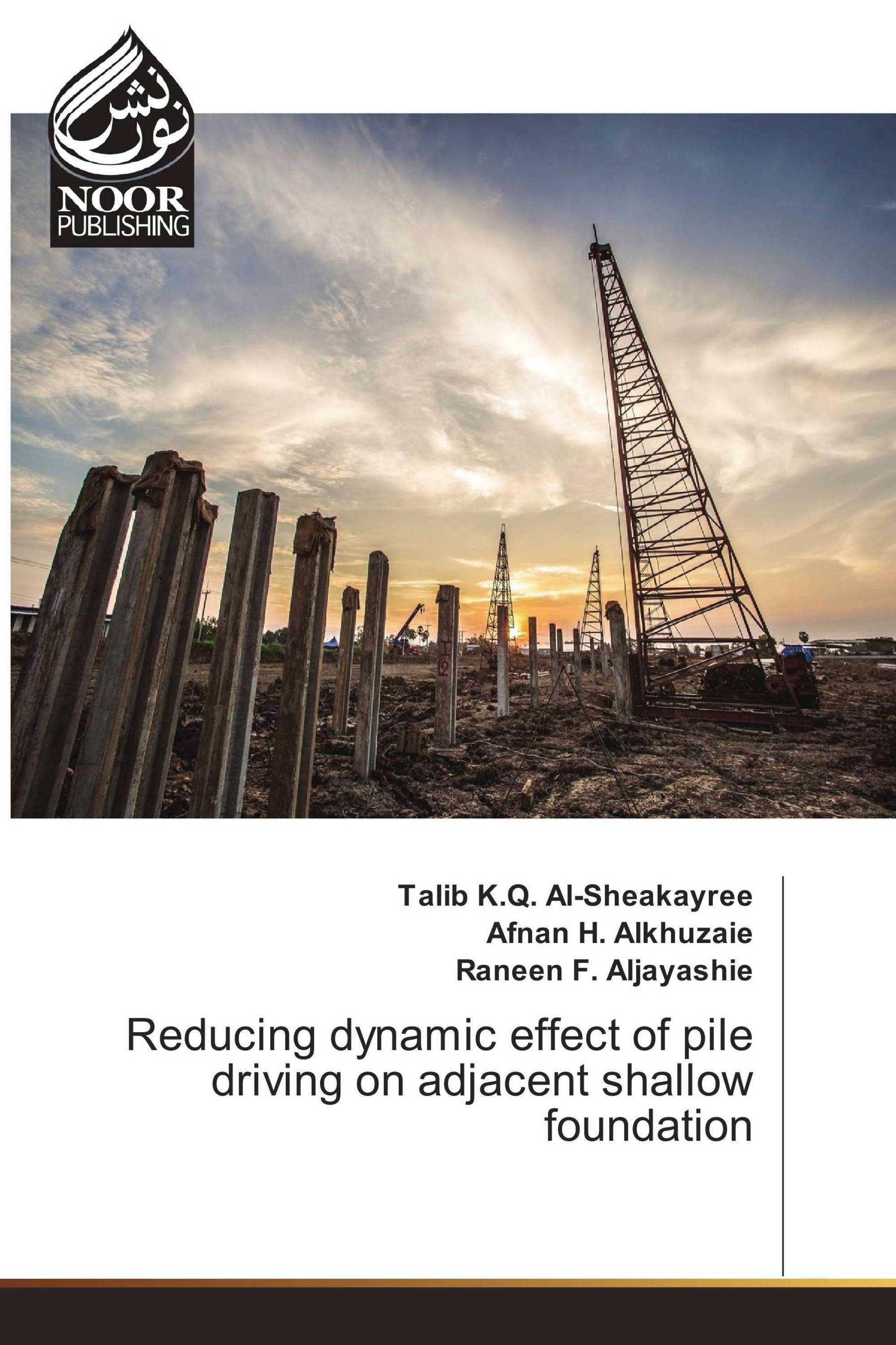 Reducing dynamic effect of pile driving on adjacent shallow