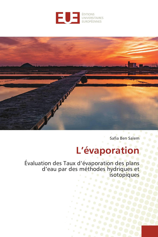 L'évaporation