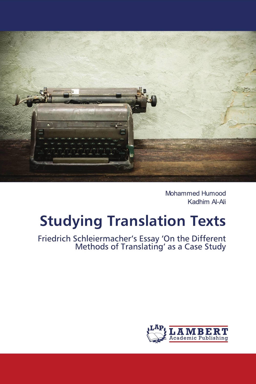 Studying Translation Texts