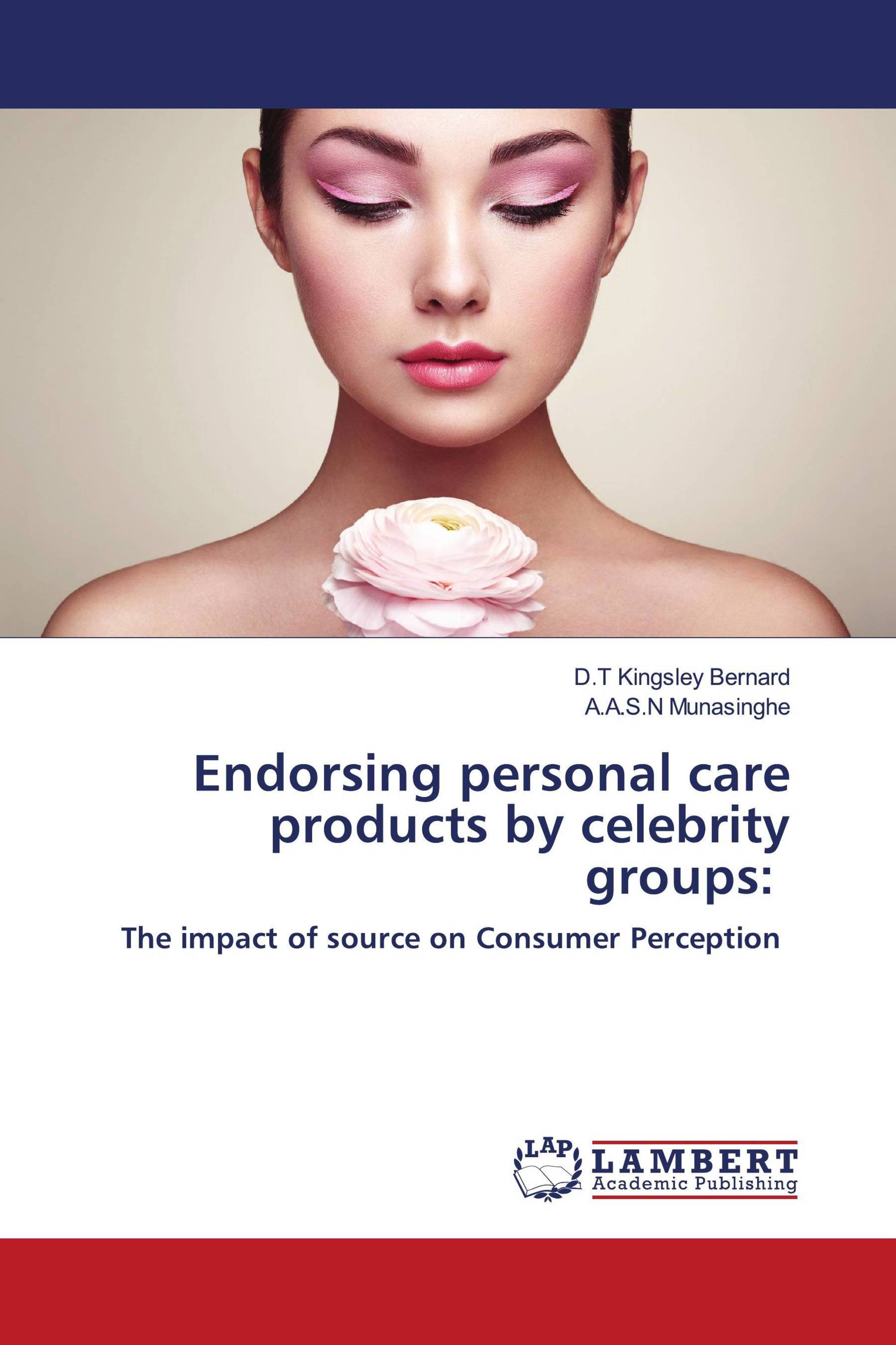 Endorsing personal care products by celebrity groups: