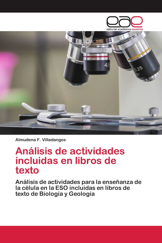 Análisis de actividades incluidas en libros de texto