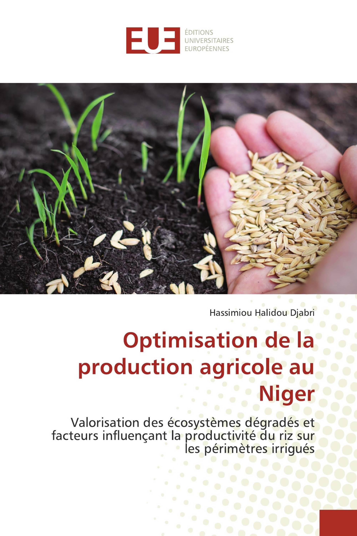 Optimisation de la production agricole au Niger