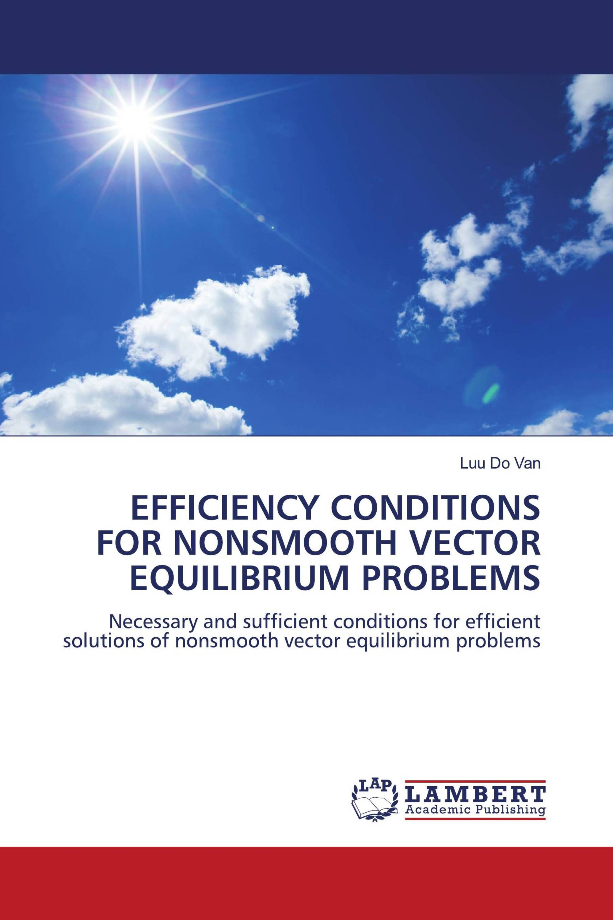 EFFICIENCY CONDITIONS FOR NONSMOOTH VECTOR EQUILIBRIUM PROBLEMS