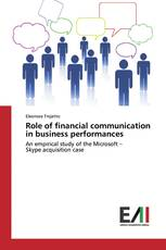 Role of financial communication in business performances