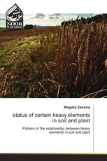 status of certain heavy elements in soil and plant