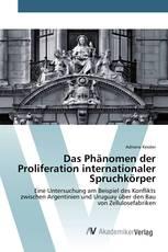 Das Phänomen der Proliferation internationaler Spruchkörper