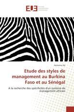 Etude des styles de management au Burkina Faso et au Sénégal