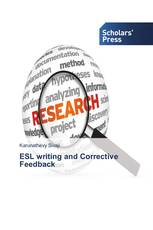 ESL writing and Corrective Feedback